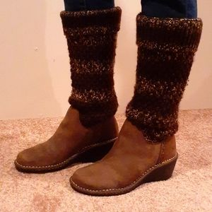 UGG knit suade boots